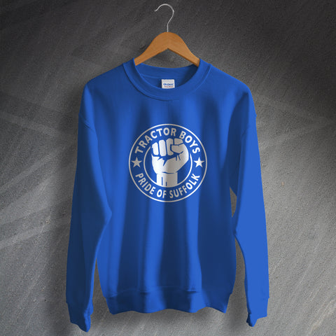 Ipswich Football Sweatshirt Tractor Boys Pride of Suffolk