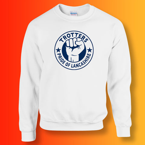 Trotters Sweater with The Pride of Lancashire Design