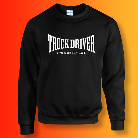 Truck Driver Sweater with It's a Way of Life Design