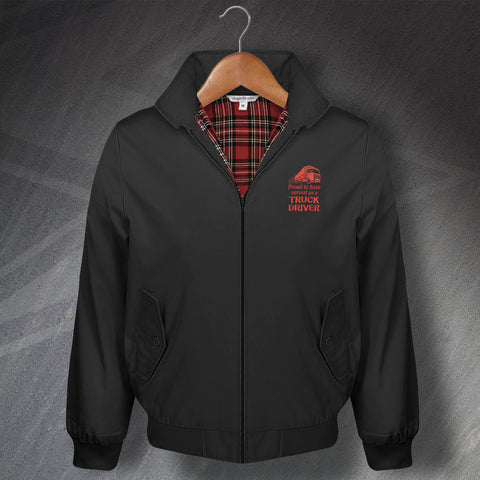 Proud to Have Served as a Truck Driver Embroidered Classic Harrington Jacket