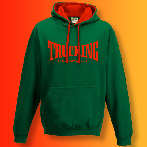 Trucking Contrast Hoodie with It's a Way of Life Design