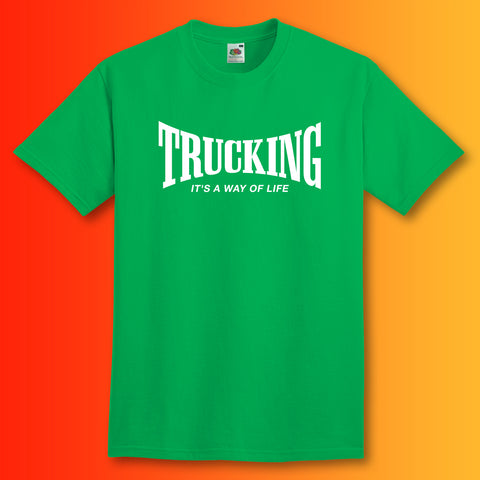 Trucking T-Shirt with It's a Way of Life Design