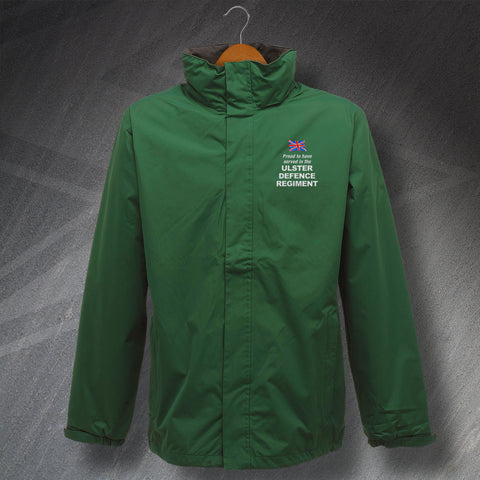 Proud to Have Served In The Ulster Defence Regiment Embroidered Waterproof Jacket