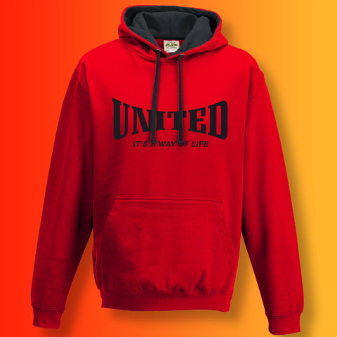 United Contrast Hoodie with It's a Way of Life Design
