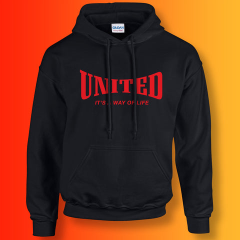 United Hoodie with It's a Way of Life Design Black
