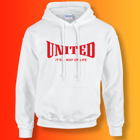United Hoodie with It's a Way of Life Design White