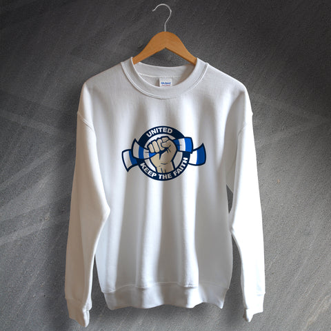 Leeds Football Sweatshirt United Keep The Faith