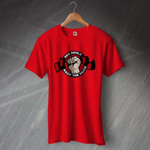 United Football T-Shirt Red Devils Keep The Faith