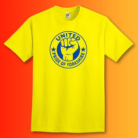United Shirt with The Pride of Yorkshire Design Yellow