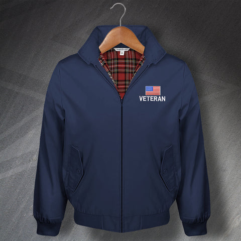 US Veteran Embroidered Classic Harrington Jacket