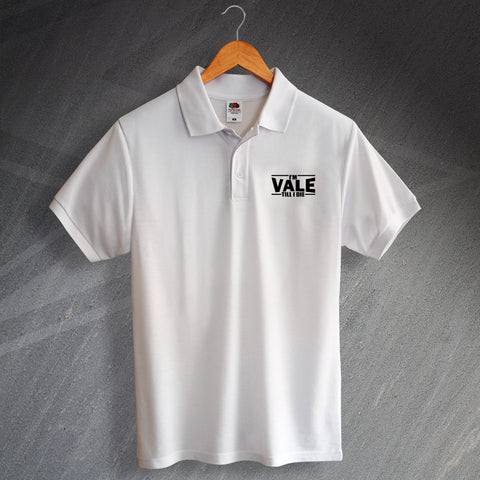 Port Vale Football Polo Shirt Printed I'm Vale Till I Die