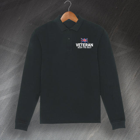 Veteran Polo Shirt Embroidered Long Sleeve Been The Best