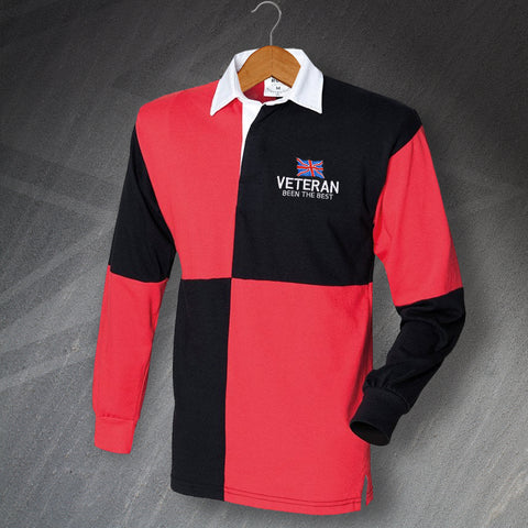 Veteran Rugby Shirt Embroidered Long Sleeve Quartered Been The Best