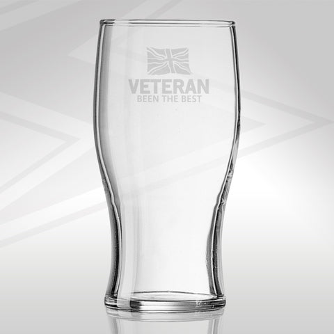 Veteran Pint Glass Engraved Been The Best