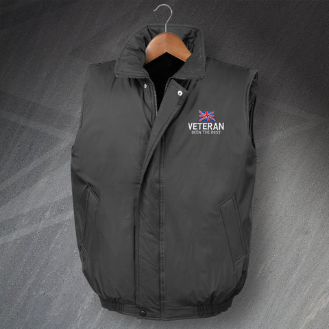 Veteran Bodywarmer Embroidered Padded Been The Best