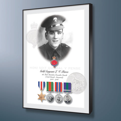 Military Veteran Photomontage Personalised with Your Photograph and Medals