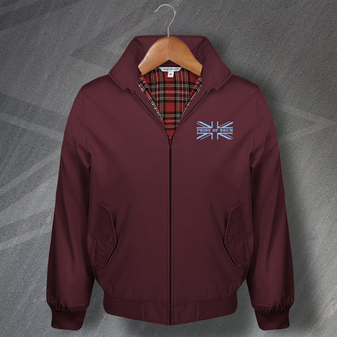 Aston Villa Football Harrington Jacket Embroidered Union Jack Pride of Brum