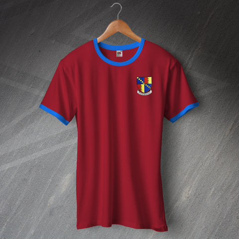 Villa Football Shirt Embroidered Ringer 1886