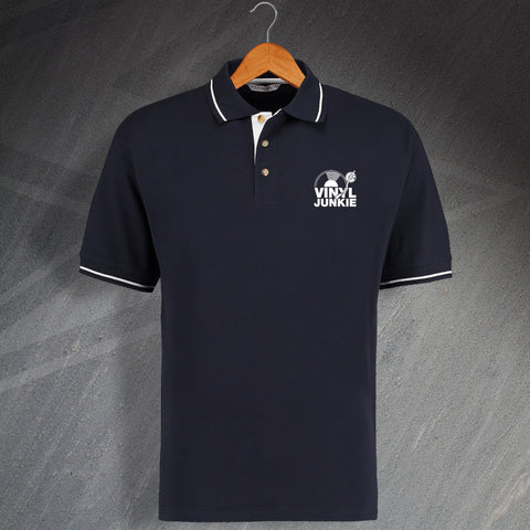 Vinyl Polo Shirt Embroidered Contrast Vinyl Junkie