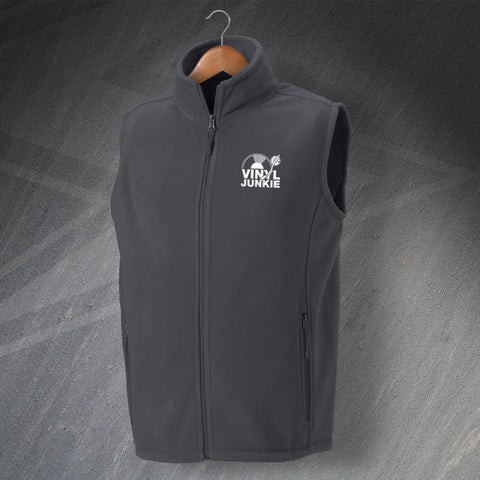 Vinyl Fleece Gilet Embroidered Vinyl Junkie