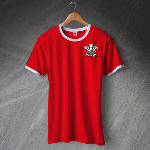 Wales Football Shirt Embroidered Ringer 1876