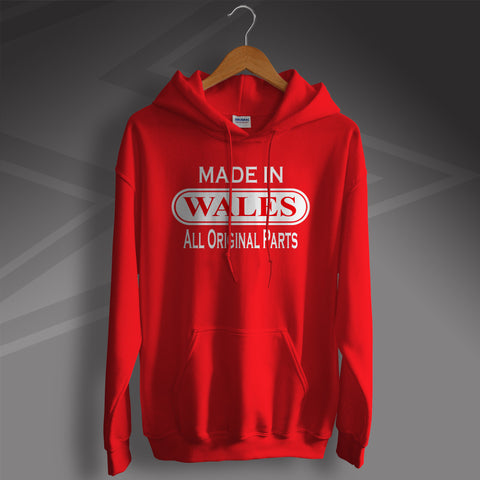 Made In Wales All Original Parts Unisex Hoodie