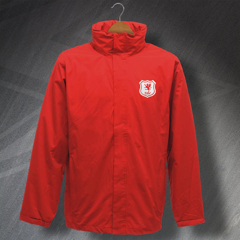 Retro Wales Waterproof Jacket with Embroidered Badge
