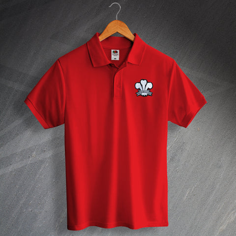 Wales Rugby Polo Shirt Embroidered 1905