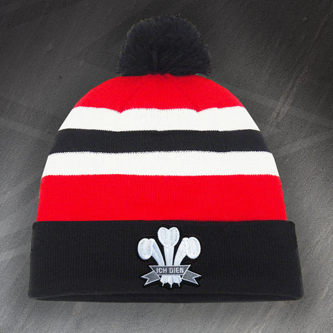 Wales Rugby Bobble Hat Embroidered 1905