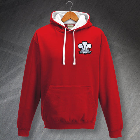 Wales Rugby Hoodie Embroidered Contrast 1905
