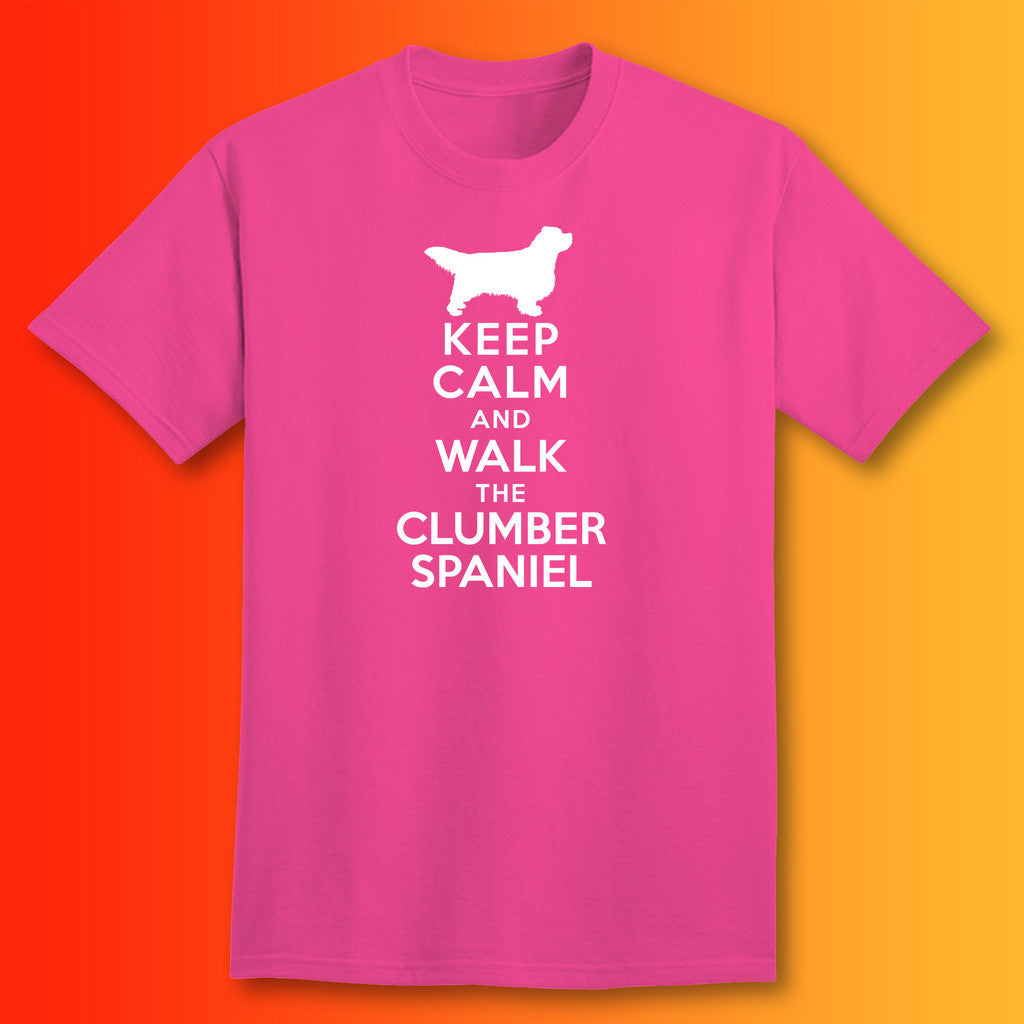 Keep Calm And Walk The Clumber Spaniel T Shirt For Sale