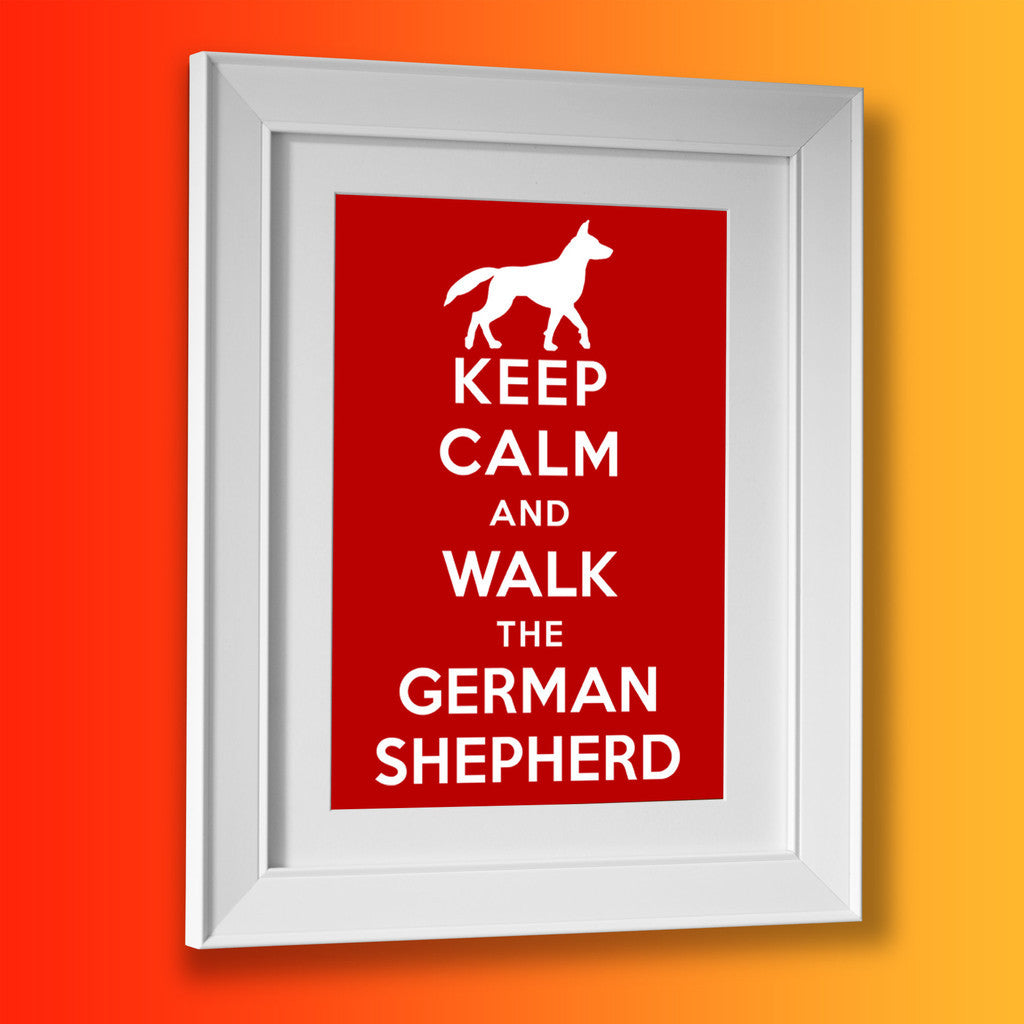 German Shepherd Picture Framed Print