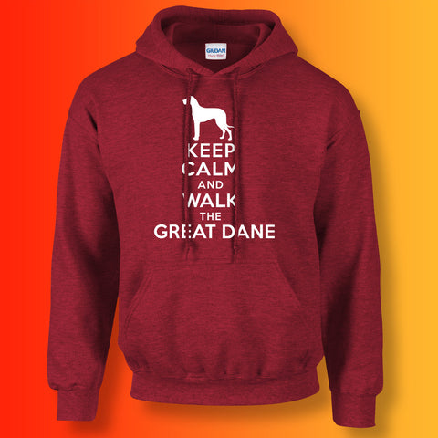 Keep Calm and Walk The Great Dane Unisex Hoodie