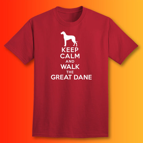 Great Dane T-Shirt with Keep Calm Design