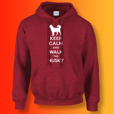 Husky Hoodie with Keep Calm Design