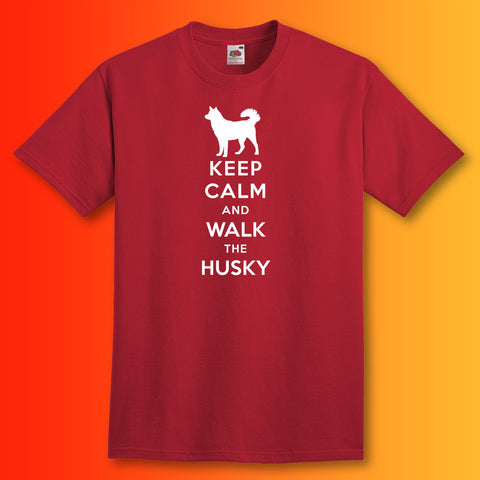 Husky T-Shirt with Keep Calm Design