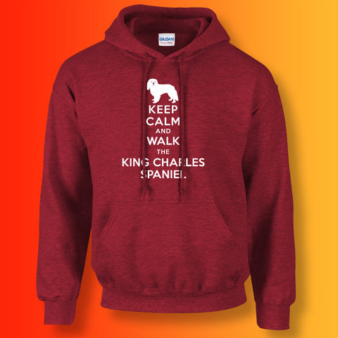 Keep Calm and Walk The King Charles Spaniel Unisex Hoodie