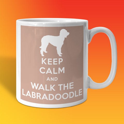 Keep Calm and Walk The Labradoodle Mug Beige