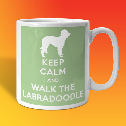 Keep Calm and Walk The Labradoodle Mug Pale Green