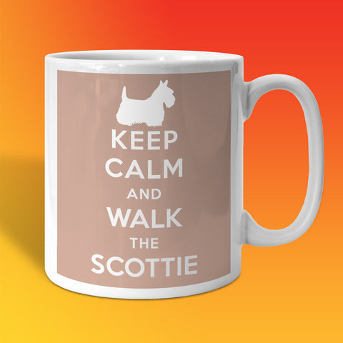 Keep Calm and Walk The Scottie Mug Beige
