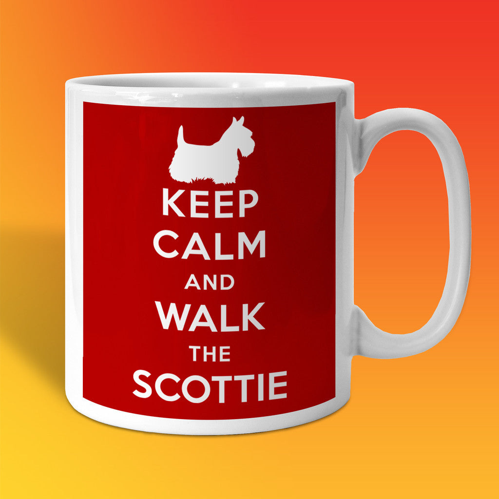 Keep Calm and Walk The Scottie Mug Brick Red