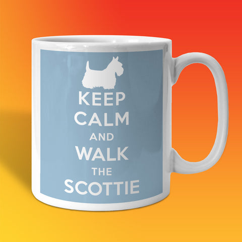 Keep Calm and Walk The Scottie Mug Pale Blue