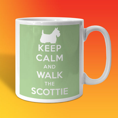 Keep Calm and Walk The Scottie Mug Pale Green