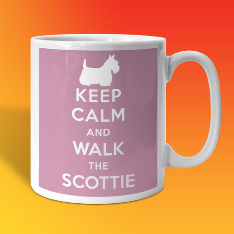 Keep Calm and Walk The Scottie Mug Pale Purple