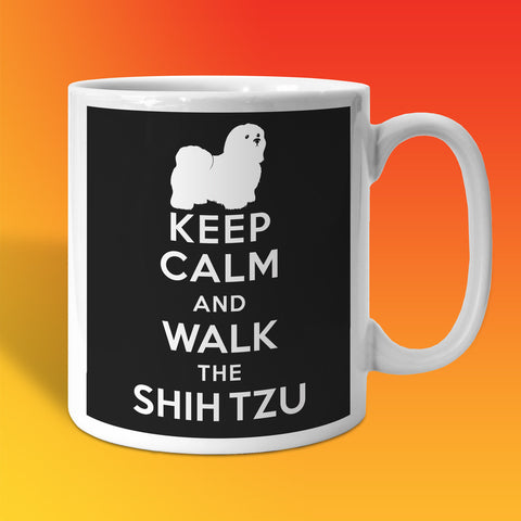Keep Calm and Walk The Shih Tzu Mug Black