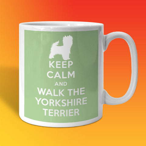 Keep Calm and Walk The Yorkshire Terrier Mug Pale Green