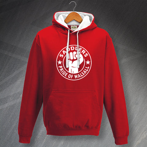 Walsall Football Hoodie Contrast Saddlers Pride of Walsall