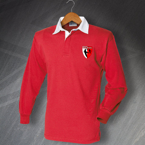 Walsall Football Shirt Embroidered Long Sleeve Walsall Town Swifts