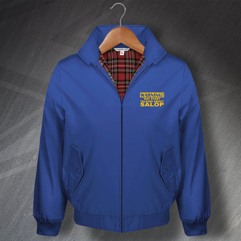 Shrewsbury Football Harrington Jacket Embroidered Warning May Start Talking About Salop