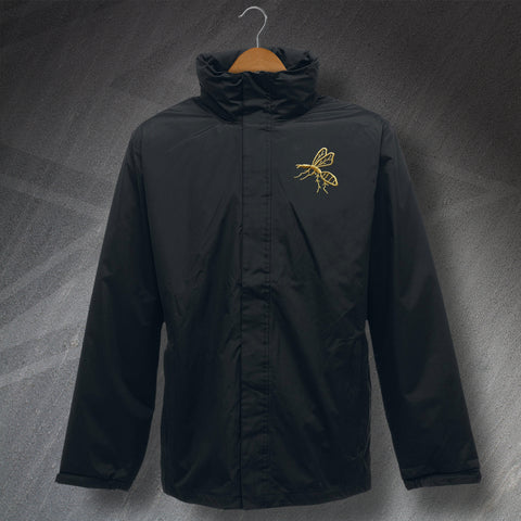 Wasps Rugby Jacket Embroidered Waterproof 1867